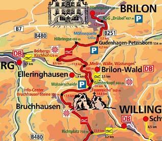Rothaarsteig Karte.Rothaarsteig 2008 Erste Etappe Olsberg Bis Willingen